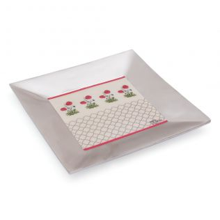 Floral Twinkles Metal Serving Platter
