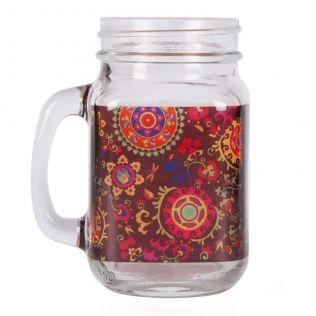 Razzle Dazzle Mason Glass Jar