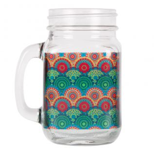 Ecliptic Lei Mason Glass Jar