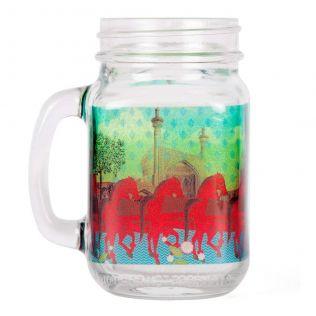Stallions of Command Mason Glass Jar