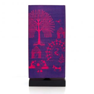 Warli Village Rectangle Table Lamp
