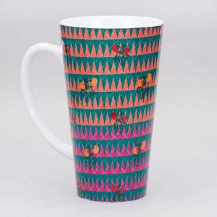 Poppin Tulips Conical Mug
