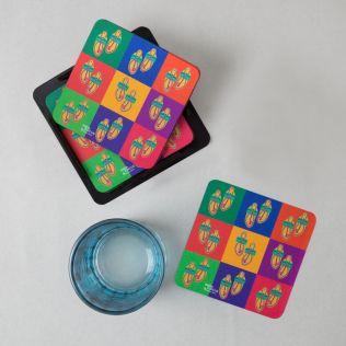 Toe tal Funk PVC Coaster - (Set of 6)