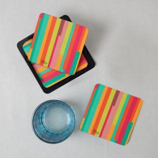Life is a Blur PVC Coaster - (Set of 6)