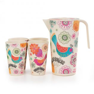 Garden of Eden Bamboo Jug set