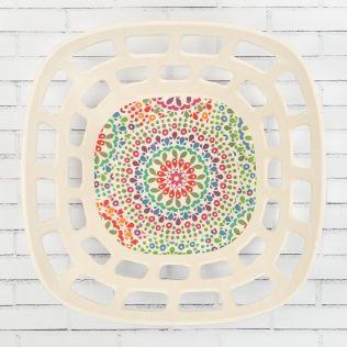 Modern Mandala Bamboo Fruit Bowl