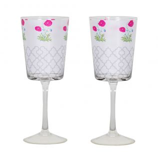 Floral Twinkles Wine Glasses (Set of 2)