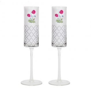 Floral Twinkles Champagne Glasses (Set of 2)