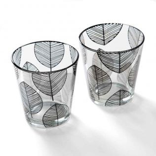 Monochrome Monologues Glass Tumbler (Set of 2)