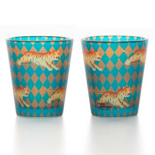 Obscure Ochre Frosted Shot Glasses (Set of 2)