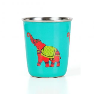 Funky Elephants Small Steel Tumbler (Set of 2)