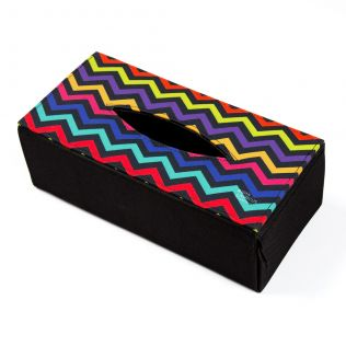 Chevron Melavo Tissue Box Holder