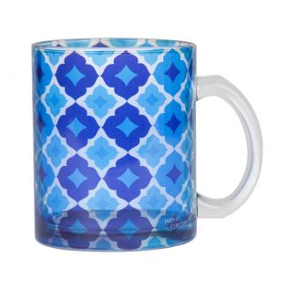 Ultramarine Tracery Glass Mug