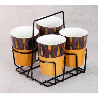 Conifer Reticulation Chai Glasses (Set of 4)