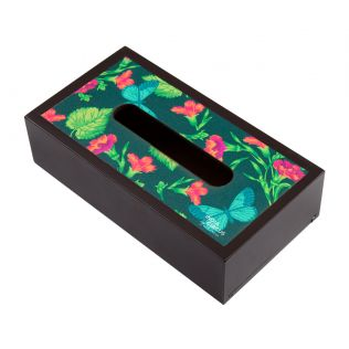 Fluttering Extravagance MDF Tissue Box Holder
