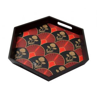 India Circus Fans of Blossom Tray