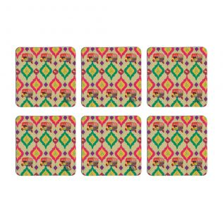 Autocracy of Colors Rubber Coaster - (Set of 6)