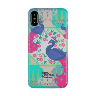 India Circus Conifer and Peacock Illusion iPhone X Cover