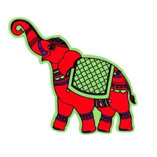 Funky Elephants MDF Fridge Magnet