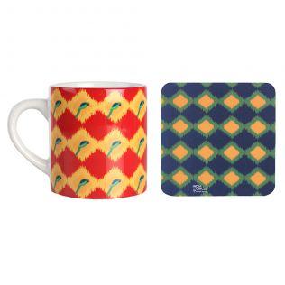 Joy de Vivre Espresso Small Mug (1 Ceramic Mug + 1 PVC Coaster)