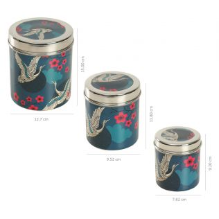 India Circus Aerial Moments Steel Container (Set of 3)