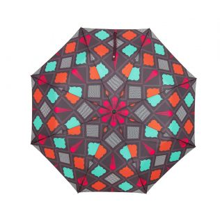 India Circus Assorted Geometry 3 Fold Umbrella