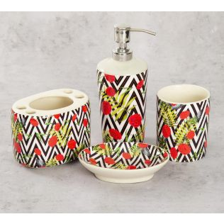 India Circus Bayrose Chevron Bath Accessory Set