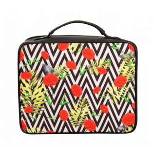 India Circus Bayrose Chevron Cosmetic Bag