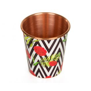 India Circus Bayrose Chevron Small Copper Tumbler