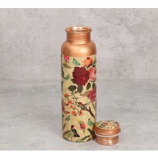 India Circus Bird Land Copper Bottle