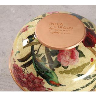 India Circus Bird Land Copper Bowl