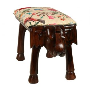 India Circus Bird Land Elephant Pouffe