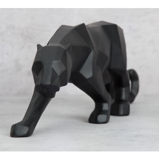 India Circus Black Panthera Figurine