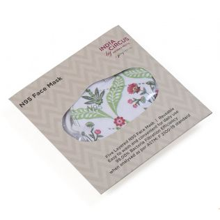 India Circus Blooming Dahlia N95 Face Mask