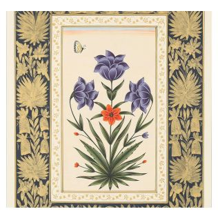India Circus Blooming Tulip Handmade Poster