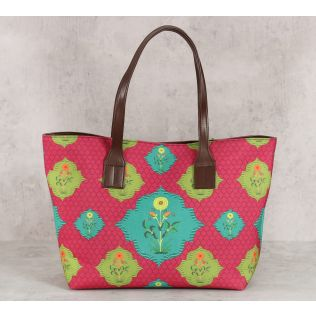 India Circus Blossom Tales Tote Bag