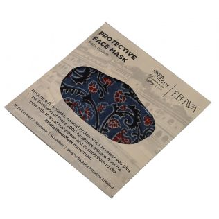 India Circus Blue Ajrak Print Cotton Mask