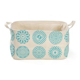 India Circus Blue Chakra Motifs Rectangle Laundry Basket