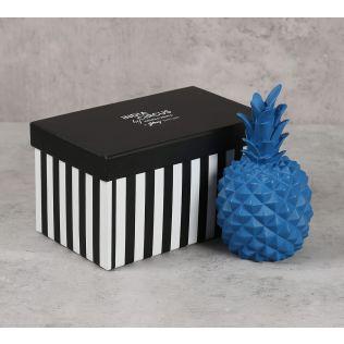 India Circus Blue Pineapple Decor Accent