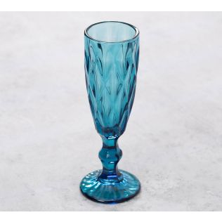 India Circus Blue Sainte Champagne Glass