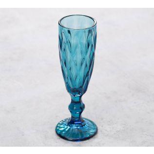 India Circus Blue Sainte Champagne Glass