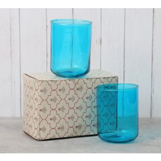 India Circus Blue Water Glass (Set of 2)