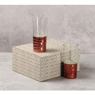 India Circus Bronze Honeycomb Water Glass (Set of 2)