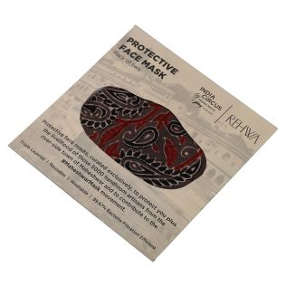 India Circus Brown Ajrak Print Cotton Mask