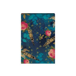 India Circus by Krsnaa Mehta Blue Floral Lake Inception Canvas Wall Art