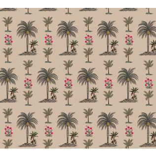 India Circus by Krsnaa Mehta Chevron Palms Wallpaper