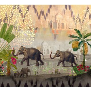 India Circus by Krsnaa Mehta Elephants of Mathura Wallpaper