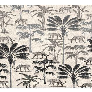 India Circus by Krsnaa Mehta Grayscale Safari Wallpaper