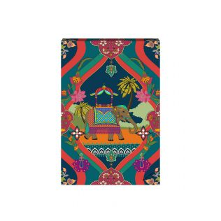India Circus by Krsnaa Mehta Merriment in Palms Canvas Wall Art