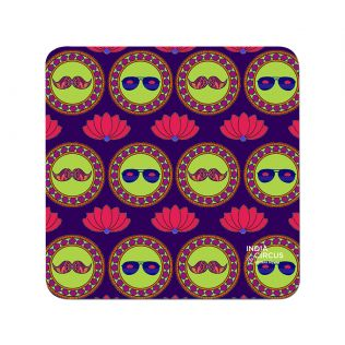 India Circus C'est La Vie PVC Table Coaster (Set of 6)